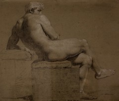 Mandlig model (c. 1800) (just.Luc) Tags: monochrome monochroom monotone man male homme hombre uomo mann tekening drawing dessin zeichnung nu nude nudo desnudo naakt nackt naked study studie museum museo musée museet kopenhagen københavn copenhagen copenhague copenhaga zealand sjælland seeland danmark denmark denemarken danemark dänemark tanska statensmuseumforkunst art kunst public publiek europa europe