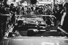 Are you sure this is the right way (downtownseoul) Tags: cars japan tokyo shibuya halloween night convertable crowds congestion monochrome canon blackandwhite bnw bw street streetphotography phones celebrity party