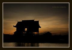Tonle Sap (Jamie B Ernstein) Tags: sunset dusk tonlesap cambodia asia southeastasia nikon sillouette dark colour reflection panorama landscape beautiful