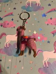 Pink llama keychain #llama #cute #matching #pink #keychain #handmade #love (direngrey037) Tags: llama cute matching pink keychain handmade love