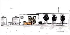 Chemin du chapitre. (J-M.I) Tags: aquarelle art house architecture haute garonne 31 toulouse watercolour aveyron 12 dessin illustration graphisme aubrac vines castelginest artiste exposition crayons de couleur encre chine