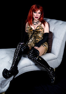 Tigress dress and thigh high boots