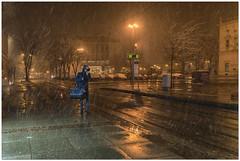 Snowing (aviana2) Tags: zagreb croatia snow winter aviana2 night street town sonya7ii sony24240mm cold
