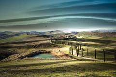 senza titolo (Enzo Ghignoni) Tags: casa cipressi lago luce erba campi colline tuscany