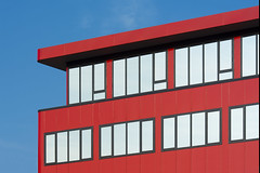 Red Office (Jan van der Wolf) Tags: map17225v red office building rood redrule hoofddorp windows ramen gevel gebouw architecture architectuur