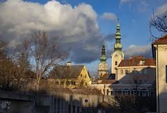 CARINZIA. KLAGENFURT (FRANCO600D) Tags: klagenfurt austria carinzia tramonto sunset luce light campanile panorama cartolina postcard österreich cielo sky nuvola clouds kärnten centrostorico centrocittà