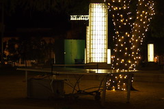 P3060014 (Kelson Corrales) Tags: olympus kelson night downtown tucson jacome plaza christmaslights pingpong tennis