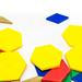 Colorful plastic geometric shapes
