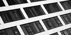 Building with jalousies (Traveller_40) Tags: bw blackwhite blackandwhite building fenster gebäude monochrome münchen nb noirblanc noiretblanc reflection steel windo window windows apartment architecture biancoenero blancoynegro business facade glassitems jalousies modern monocromático office perspective pretoebranco shades urban wiith 单色 白黒 guesswheremunich