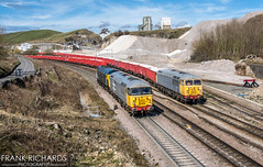47727, 56098 & 56081 | Peak Forest | 20th March '19 (Frank Richards Photography) Tags: 47727 56098 56081 peak forest nikon d7100 class47 class56 railfreight grey gbrf grid spoon derbyshire dove holes dale march 2019 20th spring 0f94 leicester lip locomotive diesel train rail uk england brush traction sulzer grds grids