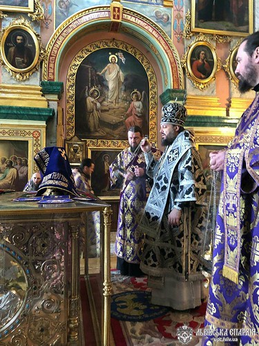 12.04.19 - Архієпископ Філарет звершив Літургію Передосвячених Дарів в Свято-Успенській Почаївській Лаврі