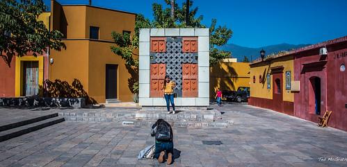 2018 - Mexico - Oaxaca - Plaza de la Cruz de Piedra