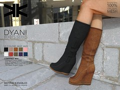 Dyani :: Woman Boots :: 10 Colors ({kokoia}) Tags: boots dyani ankle mesh kokoia maitreya slink belleza woman booty winter flat high booties botas bota shoes fashion moda tmp lara pulpy freya venus isis fringes secondlife 3d