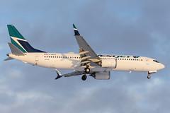 wj_737_c-grax_yeg (Lensescape) Tags: yeg boeing b737 737 2018 westjet 737800 7378 max 737max 737max8 cgrax