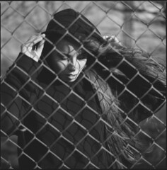 between the fence (steve-jack) Tags: hasselblad 501cm 80mm cb ilford delta 100 film 120 6x6 perceptol epson v500