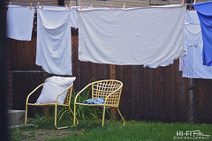 laundry day (Hi-Fi Fotos) Tags: nikkor 105mm 28 micro nikon d7200 dx laudry outdoor dry linen sheet bedding clothesline undies clothes city urban house home backyard hififotos hallewell boring