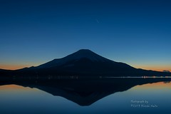 Magic Hour - Mt.Fuji (yamanaito) Tags: 500px flickr fujisan fujiyama mtfuji yamanakako lake sunset evening yamanashi japan
