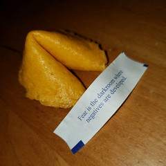 52 years and finally a fortune I can relate to. (Burnt Umber) Tags: fortunecookiechinesedarkroomfearcookiesfoodfoody