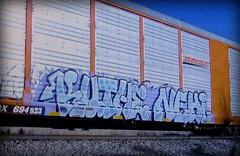 (timetomakethepasta) Tags: kuthe nehi n4n freight train graffiti art bnsf autorack