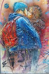 The Kiss (Edgard.V) Tags: c 215 baiser baccio beijo male female teen garçon fille arte urbano streetart urban graffiti love amour amor amore vitrysurseine c215 christian guémy