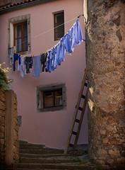 Laundry (JLM62380) Tags: croatia ville urban town labin croatie laundry washing wall lessive clothes vêtements mur échelle ladder