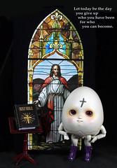 Reflect Repent Rejoice (bentwhisker) Tags: doll bjd resin anthro egg soom neoangelregion humptydumpty ashwednesday ashes lent 6048