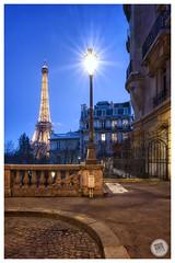 Paris - The City of light (pascal.subtil) Tags: architecture leicaqp leicaq leica france tourism monument street longexposure eiffel toureiffel eiffeltower bluehour light paris