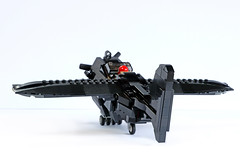 BR-1 Pint of Stout, rear, grounded (Ron and Co. Bricks) Tags: lego build bricks toy play afol moc myowncreation custom minifigure aeroplane aircraft airplane plane propeller fantasy steampunk