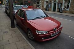 306 Meridian HDI (Sam Tait) Tags: hebden bridge peugeot 306 french car meridian hid diesel 20 19 2001 5 door red maroon