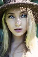 Anna Iannova (FotoGrafiche FS) Tags: blonde portrait sony sonyalpha a6500 apsc 50mm face italy rome old bokeh vintagelens emount eyes
