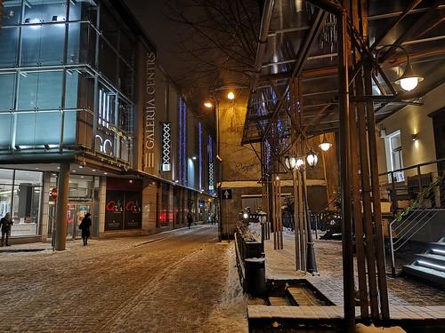 Kaleju Street in Old Town of Riga, Latvia, December 21, 2018