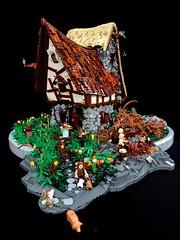 LEGO medieval fantasy house (danielvermeir) Tags: legocastle castle afol legomoc medievallego medieval fantasy house moc lego custom