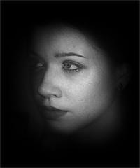 Seek the hidden truth (Philip L Hinton A.R.P.S.) Tags: portrait mono nikon woman dark poetry musicmatch mystique