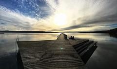 Steg am Tollensesee (dirklie65) Tags: serene stille sky himmel people mvp mecklenburgvorpommern brücke steg gegenlicht tollensesee neubrandenburg lake see