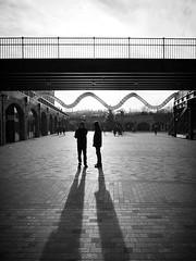 IMG_1110175 (Kathi Huidobro) Tags: naturallight sunset urban retail publicspaces bridge architecture wave lines london artinstallation shadows silhouette blackwhite bw monochrome