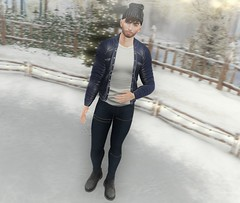 Ice-Skater Boy (EnviouSLAY) Tags: iceskate ice skate snow scene beanie jacket blue denim leather navy hathair hat hair jeans motopants moto pants boots black white facialhair facial doux letre riot coldash cold ash belleza bento jake lelutka andreas newreleases new releases equal10 equal 10 uber monthlyevent monthlyfashion monthlyfair monthly event fashion fair lgbt pale male gay blogger secondlife second life photography secondlifefashion secondlifephotography