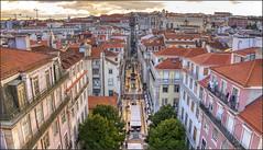 Lisbon/Lisboa sunset (Bert Kaufmann) Tags: portugal lisboa lisbon lissabon sunset cityview cityscape rooptops daken baixa chiado baixachiado city stad elevadordesantajusta elevador conventodocarmo carmo panorama panoramicview sunsetview