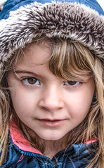 A portrait (alice.nanni) Tags: kid baby kiddo girl portrait ritratto canon canoneos canoneos2000d canonphotography canonphotos blondkid blondehair hoodie kidwithhoodie kidwithhood winter winterclothes fur kidwithfurryhood eyes browneyes brown inverno bambina bimbo face faccia human daughter
