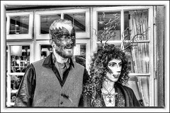 IMG_0142-7 Mono (Scotchjohnnie) Tags: whitbygothweekendoctober2018 whitbygothweekend wgw wgw2018 whitby yorkshire northyorkshire goth gothic costume streetphotography streetscene portrait people male female canon canoneos canon7dmkii canonef24105mmf4lisusm scotchjohnnie