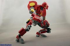 [MOC] SP//DR (admiraltyphoon) Tags: lego moc marvel comics spiderman peni parker spdr mech suit mecha evangelion red