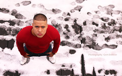 IMG_4249h (Defever Photography) Tags: snow male model ghent belgium portusganda red fashion portrait