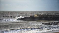the pier (Redheadwondering) Tags: sonyα7ii dorset weymouthminiminimoon sea seaside winter beach chesilbeach westbay minolta minolta100200mm waves pier