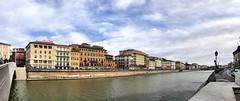 Left bank of Arno from Ponte di Mezzo (aiva.) Tags: italy pisa italia arno river bridge panorama toscana tuscany