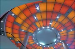 The ceiling... (Tjaldur66) Tags: bern switzerland architecture modernarchitecture shoppingcentre escalator building ceilinglight ceiling pillar