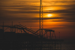 Departure (subterraneancarsickblues) Tags: blackpool lancashire seaside resort town pier evening silhouette gold canon 6d eos6d 70300mm f456l lseries