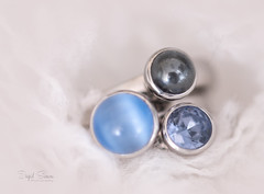 Gems (Inky-NL) Tags: macromondays rings zirkonia interchangeablegems gems edelstenen amethyst hematite melano® ingridsiemons©2019 jewelry