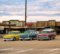 50's Chevys All In A Row (randyherring) Tags: 50s az arizona chevys phoenix pinnaclepeakpatio car desert oldcars outdoor steakhouse vehicle