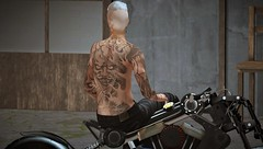 Demon Rider (Paulus Woller) Tags: endlesspaintattoos man men guy biker