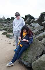 Learning (The Crewe Chronicler) Tags: wirral thewirral newbrighton canon canon7dmarkii sea beach sand seaside