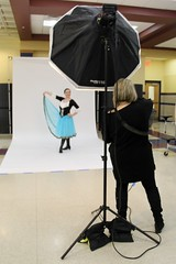 Patti Shoots (Read2me) Tags: pree cye costume pose skirt blue teen girl frombehind shoottheshooter thechallengefactorywinner ge perpetualchallengewinner